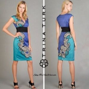Trina Turk floral paisley shift dress